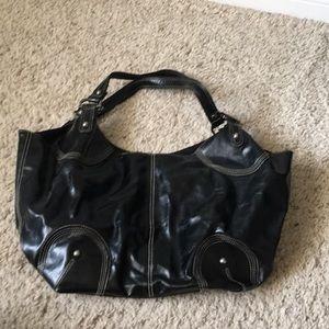 Black Oversized Shoulder Bag